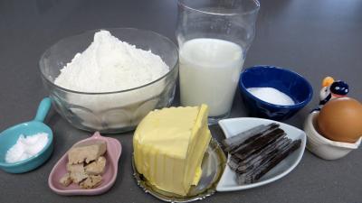 Ingrédients pour la recette : Pains au chocolat