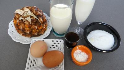 Ingrédients pour la recette : Crème à l'ananas