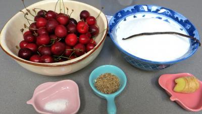 Ingrédients pour la recette : Confit de cerises