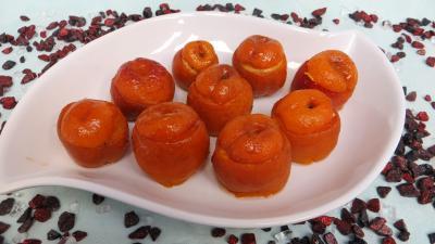 fruits farcis : Plat d'abricots farcis à la ricotta