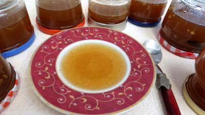recette été : Coupelle et pot de gelée de nashis