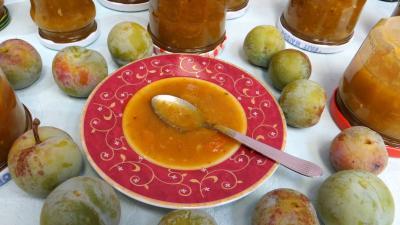 conserve au vinaigre : Coupelle de chutney de reine-claude aux restes de mojito
