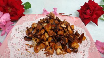 pralin : Coupelle de pralines aux noix du Brésil