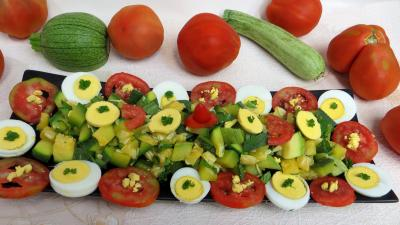 Entrées froides : Plat de salade de courgette