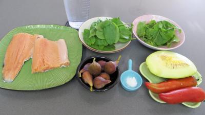 Ingrédients pour la recette : Salade de truite