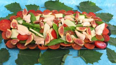 Poissons : Plat de salade de truite