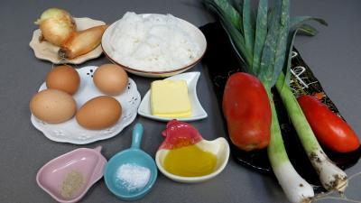 Ingrédients pour la recette : Oeufs aux poireaux