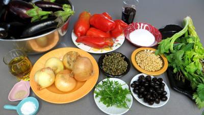 Ingrédients pour la recette : Caponata en conserve