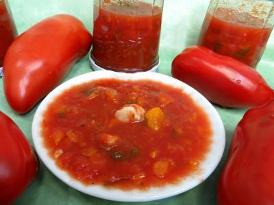 Conserves : Coupelle de sauce tomates aux carottes