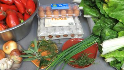 Ingrédients pour la recette : Sauce tomates aux oeufs (conserves)