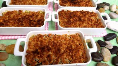 crumble salé : Cassolettes de crumble aux blettes
