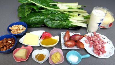 Ingrédients pour la recette : Chaussons aux blettes
