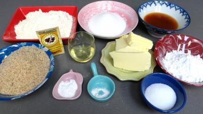 Ingrédients pour la recette : Etoiles de l'Avent à la confiture