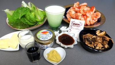 Ingrédients pour la recette : Cuillères de crevettes à la Chantilly