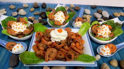 Image : recette Cuillères de crevettes à la Chantilly