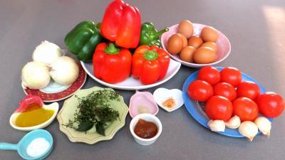 Ingrédients pour la recette : Piperade Basque