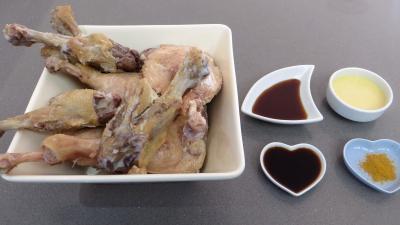 Ingrédients pour la recette : Confit de canard à la sauce soja