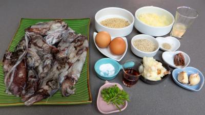 Ingrédients pour la recette : Calamars farcis
