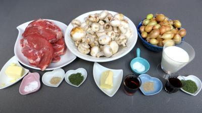 Ingrédients pour la recette : Côtes de veau à l'amaretto