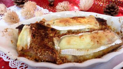chapelure : Cassolettes de crêpes fourrées au camembert