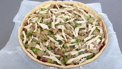 Pizza au chapon et poireaux - 7.4