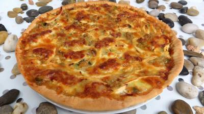 Pizza au chapon et poireaux supertoinette la cuisine for Entrees chaudes rapides