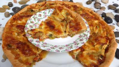 Recette Pizza au chapon et poireaux