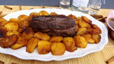 Recette Assiette de bison aux pommes