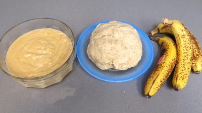 Ingrédients pour la recette : Galette à la banane