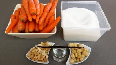 Ingrédients pour la recette : Confiture de carottes