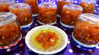 Image : Pots de confiture de carottes