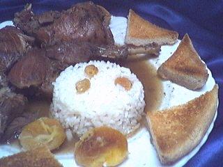croûtons : Assiette de faisan en salmis