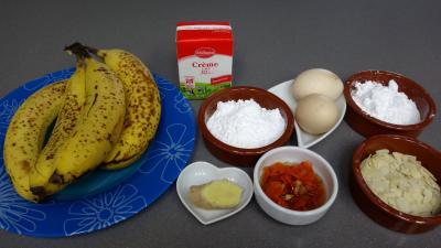 Ingrédients pour la recette : Mousse de bananes façon chinoise