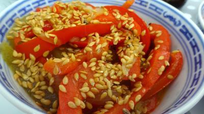 Recette Sauté de concombre et poivrons à la chinoise