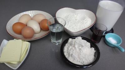 Ingrédients pour la recette : Pâte à crêpes à la farine de seigle