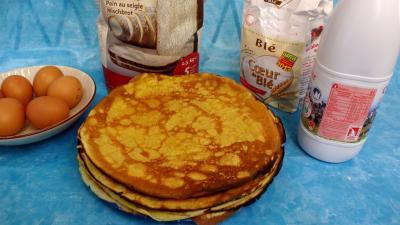 Image : recette Pâte à crêpes à la farine de seigle