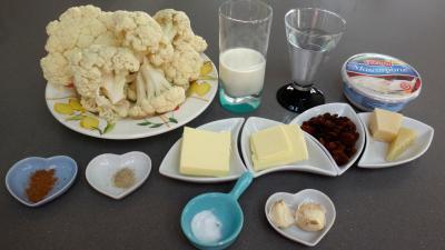 Ingrédients pour la recette : Crêpes au chou-fleur