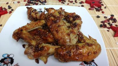 Recette Assiette d'ailes de poulet au miel
