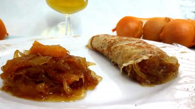 Recettes rapides : Assiette de crêpe à la confiture d'oignons