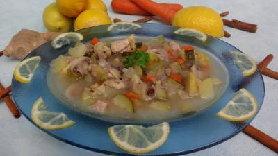 soupe de volailles : Soupe au citron