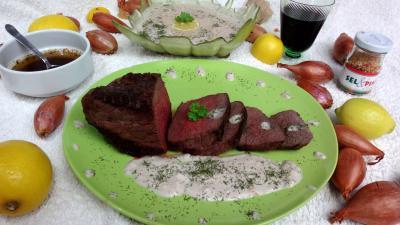 Volailles et gibiers : Assiette de bison