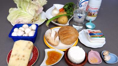 Ingrédients pour la recette : Soupe au fromage
