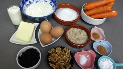 Ingrédients pour la recette : Gâteau aux carottes