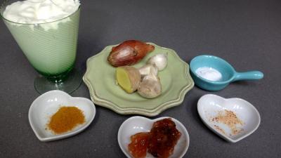 Ingrédients pour la recette : Crème d'ail