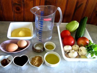 Ingrédients pour la recette : Galettes de polenta aux courgettes