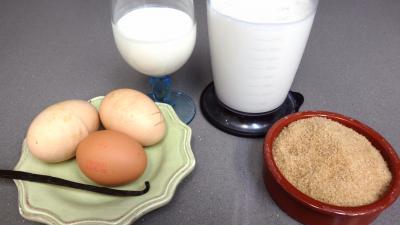 Ingrédients pour la recette : Crème anglaise