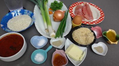 Ingrédients pour la recette : Galettes de poireau au riz