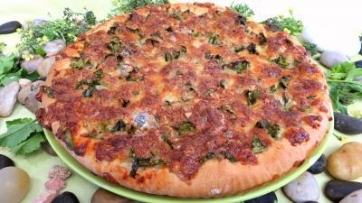 Sauce tomate pour pizza : Pizza aux broutes