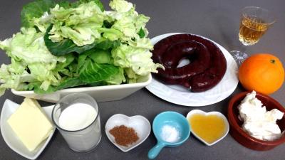 Ingrédients pour la recette : Boudin au chou