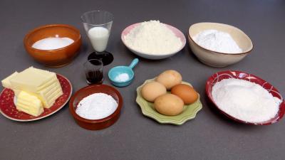 Ingrédients pour la recette : Lamingtons revisités
